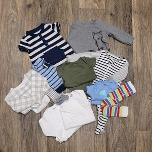 Baby boy clothing bundle 11 items